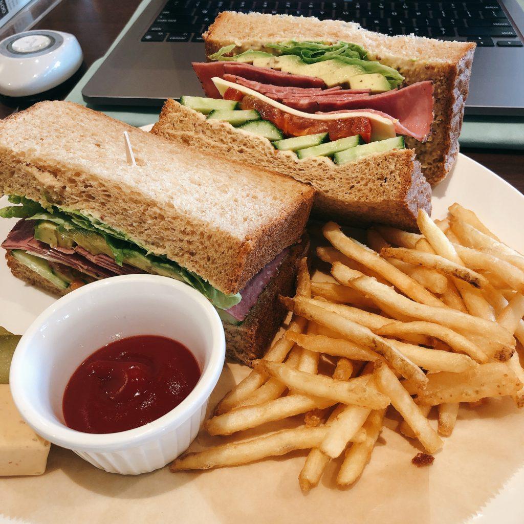 Cafficeで頼んだサンドイッチ